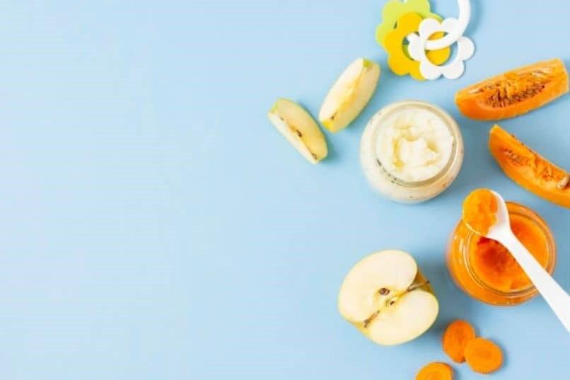 comida muy saludable para bebe con papilla patata
