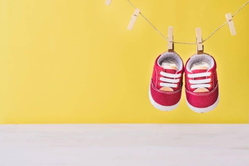 retrato del calzado de un bebe