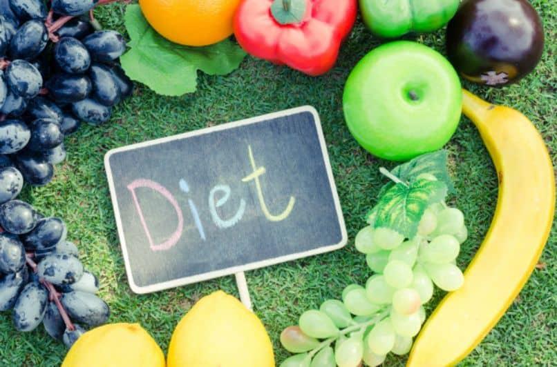 muchas frutas para una dieta