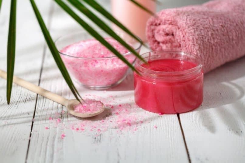 exfoliante natural de la piel sensible